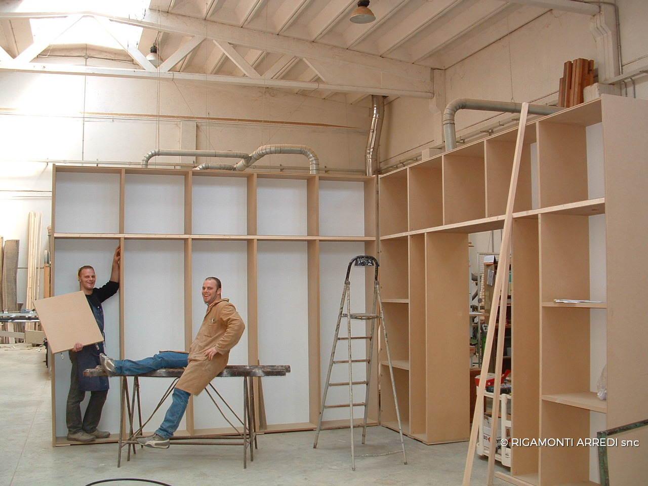 Lacquered corner bookcase rigamonti arredi for Brianza arredi